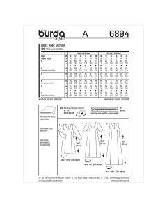 BURDA - 6894 ROBE POUR FEMMES