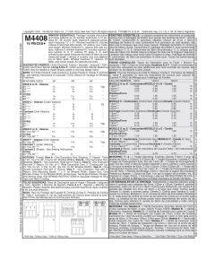 MCCALLS - M4408 VALANCES ET RIDEAUX
