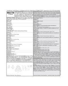 MCCALLS - M5778 BAS ET DÉCORATIONS DE NOËL