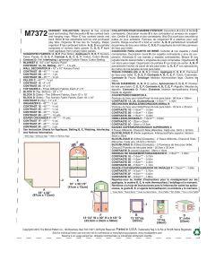 MCCALLS - M7372 COLLECTION POUR CHAMBRE DE BÉBÉ