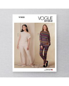 VOGUE - V1835 FITTING TOPS & PANT FOR MISS -XS-XXL