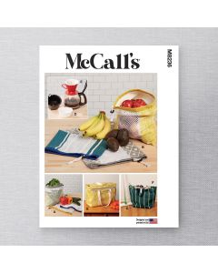 MCCALLS - M8236 FRUIT & VEGETABLES BAGS, COFFEE FILTER AND BAGS
